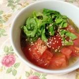 トマトとメカブの小鉢