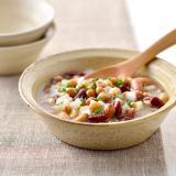 豆とたまねぎのスープ風