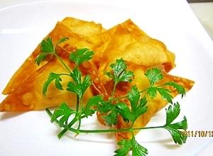 節約レシピ ツナとチーズの揚げワンタン