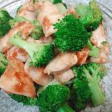 鶏胸肉とブロッコリーのマヨ醤油炒め