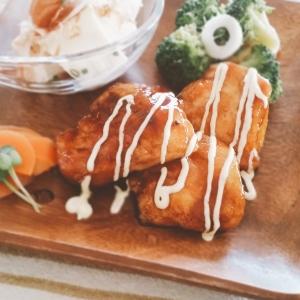 鶏むねの甘酢照り焼きonマヨ【脂質5.7g】