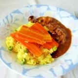カロチンたっぷり☆人参とターメリックの炊き込みご飯