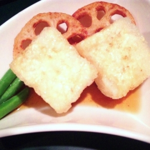 【水切り裏ワザ・フライパンで揚げる】揚げ出し豆腐