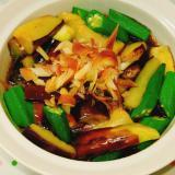 夏野菜!ナスとオクラとミョウガのポン酢浸し