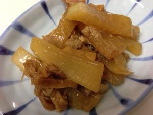 めちゃ×2ウマイ♬皮ごと大根とツナの炒め煮