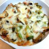 【男の料理】茄子とブロッコリーの味噌チーズ焼き