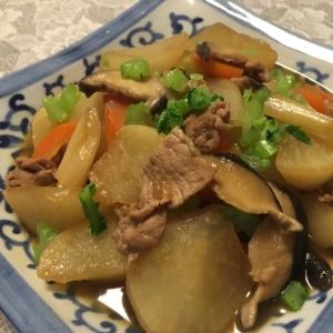 甘辛美味しい★豚肉と大根の炒め煮★