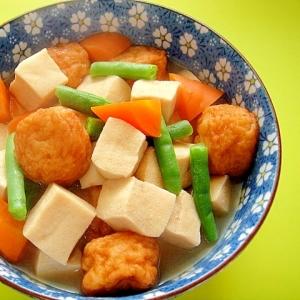 高野豆腐と玉ねぎボールの煮物