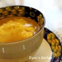 忙しい朝の卵スープ