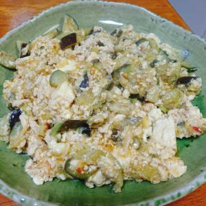 鶏挽き肉の麻婆茄子豆腐