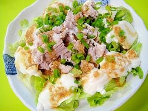 豆腐と豚しゃぶの胡麻醤油サラダ