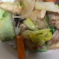 麺つゆで簡単野菜のあんかけ