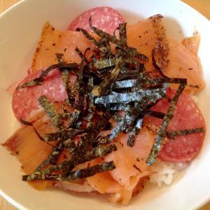 サラミサーモンちらし寿司