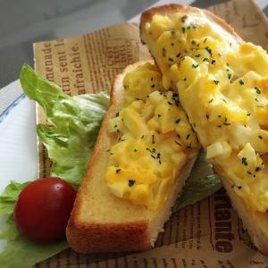 トースターで焼くだけ☆タルタルチーズホットサンド