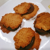 大豆粉いりクッキーチョコアイスサンド