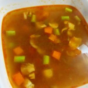 コロコロ野菜のアジアンピリ辛スープ++