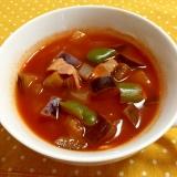 トマトジュースを使ったなすと玉ねぎのスープ♪