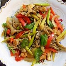 残り野菜をオイスターソースで高級料理