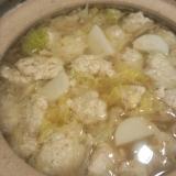 山芋でフワトロ!鶏団子の中華鍋!