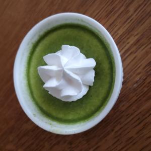 粉末緑茶プリン