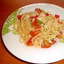 簡単美味!トマトとバジルの冷製パスタ