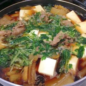 すきしゃぶつゆで☆牛肉と水菜のすき煮