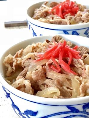 安い牛肉でOK!簡単美味しい♫我が家の牛丼