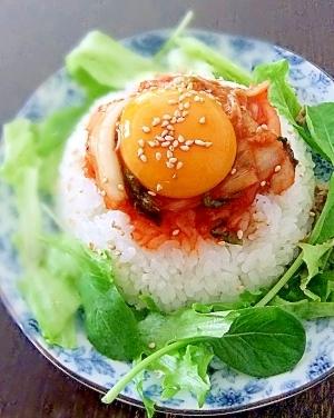 火を使わない★簡単手作りダレで食べるキムチ丼