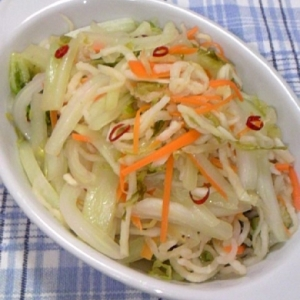 白菜と切り干し大根のラーパーツァイ