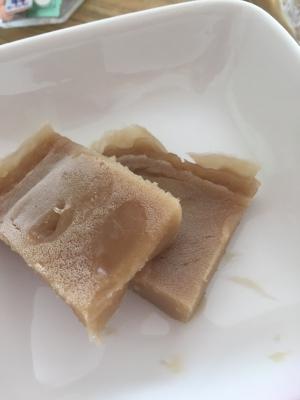 小麦粉で作る黒糖ういろう