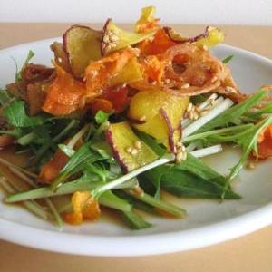 野菜チップスサラダ