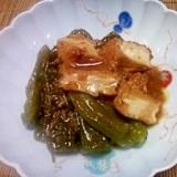 しょう油麹でシシトウと厚揚げの煮物