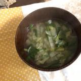 ナンプラーでタイ風スープ