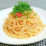 昆布茶でたらこのスパゲティ