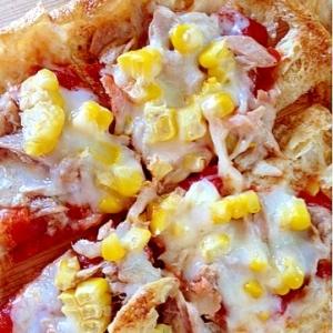 【糖質制限】ツナとコーンのなんちゃってピザ★油揚げ