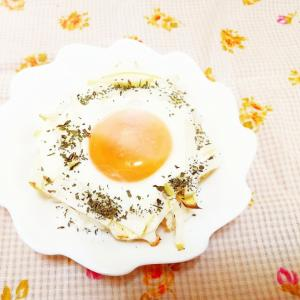 オリーブ&バジル風味♪大根の巣ごもり卵