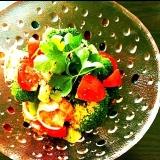 海老トマトブロッコリーのサラダ♡