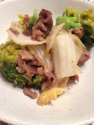 ブロッコリーと牛肉のオイスター炒め