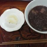 あずき黒豆汁粉