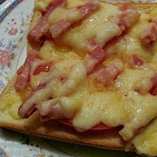 ボリューム!ピザ風チーズトースト♪