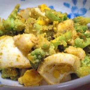 カリッコリーとゆで卵のカレー粉炒め