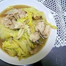 白菜と豚肉のうま煮