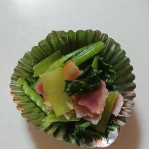 お弁当に♪ベーコンと小松菜のコンソメ煮★
