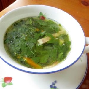 簡単おいしい~モロヘイヤのスープ♪