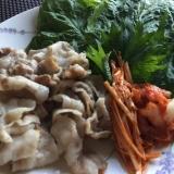 豚バラを野菜で巻き巻きサムギョプサル風