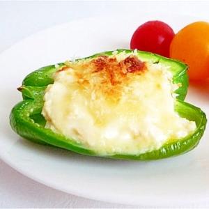 ピーマンの豆腐ファルシグラタン