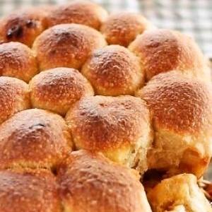 ストウブで♪自家製酵母のカフェモカちぎりパン