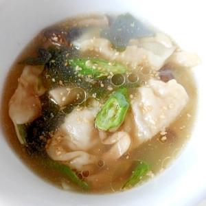 ★きのこ・わかめの餃子スープ★