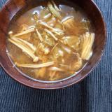 白菜とえのきと油揚げのお味噌汁☆
