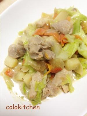 鶏肉とたっぷり野菜のココナッツミルク炒め
